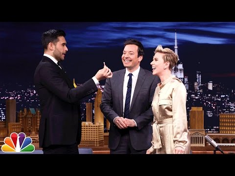 Scarlett Johansson Gets a Special Magic Trick from Dan White