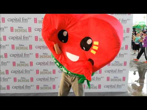 Smiling Heart (Official Mascot) at the recent Malaysia Women's Marathon
