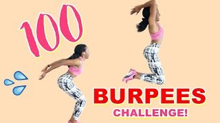 100 BURPEES CHALLENGE || Lose Body Fat & Tone Your Glutes With This - Home Workout Without Equipment