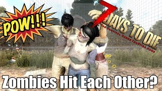 7 Days to Die - Can Zombies Hit Each Other? (Alpha 17)