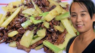 Stir Fry Pork (Chinese Stir-Fry Pork Recipe) Asian Cooking