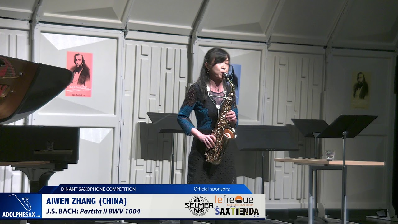 Aiwen Zhang (China)- Partita II BWV 1004 by J S  Bach  (Dinant 2019)