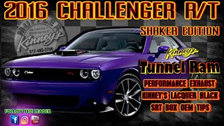 2016 Challenger RT Shaker Tunnel Ram Performance Exhaust Lacquer Black Quad Tips by Kinney's