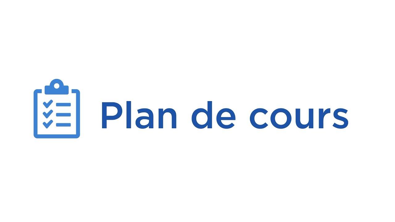 Plan de cours électronique