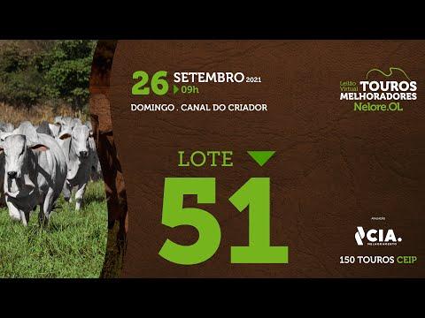LOTE 51 - LEILÃO VIRTUAL DE TOUROS 2021 NELORE OL - CEIP