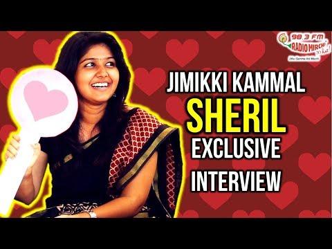Jimikki kammal girl Sheril dance and interview with Radio Mirchi RJ Anand