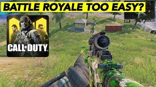 CALL OF DUTY MOBILE BATTLE ROYALE IS TOO EASY!   22 KILLS SOLO VS SQUAD   COD MOBILE!