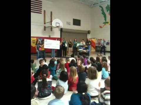 Check presentation to Gegan Elementary School