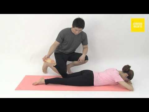 24大腿直筋のストレッチ指導法