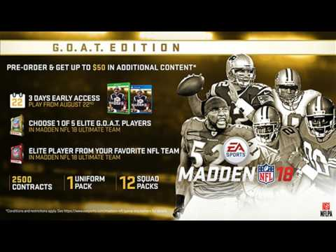 Madden 18 - Pre Order Elite Players Revealed! Madden NF 18 Team Play Official?!?!