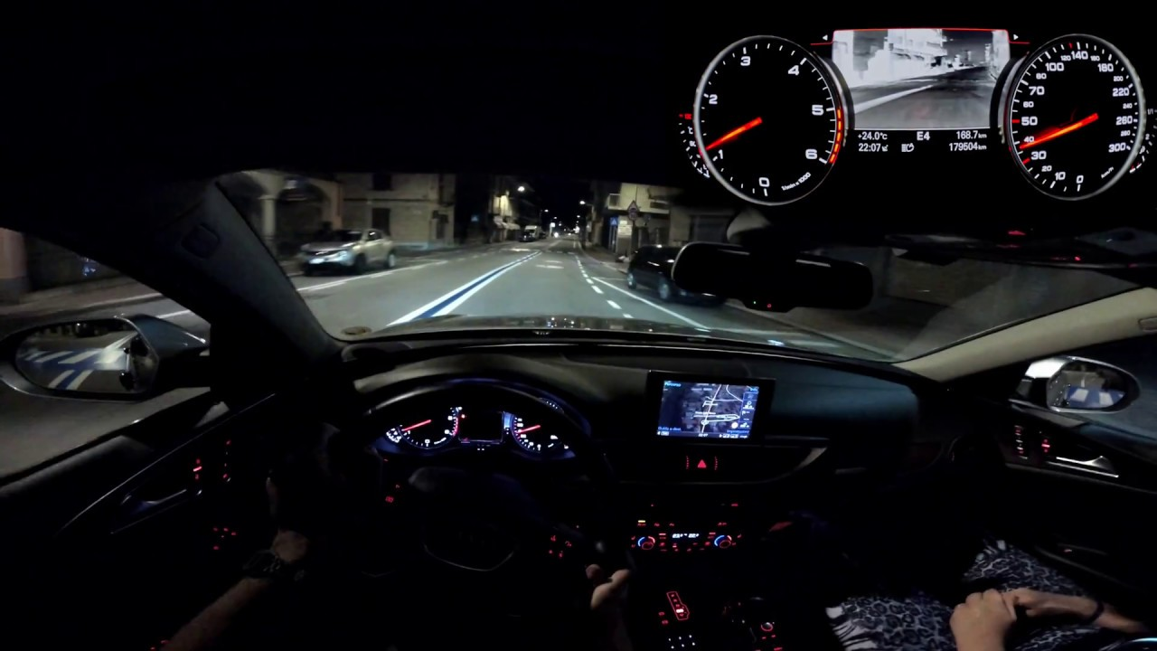 Audi A6 4G Avant Night POV in 4K! Night Vision + ACC + AFS and more! - YouTube