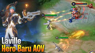 Bukan Granger, Hero Baru AOV Laville, Attack Speed Kenceng Cuwk - AOV Test Server