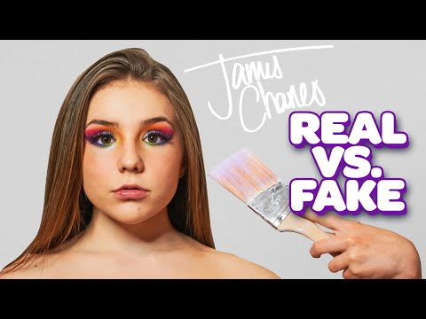DESTROYING James Charles Palette REAL vs FAKE (MAKEUP REVIEW)🎨| Piper Rockelle