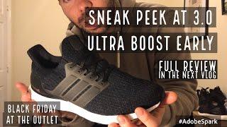 Adidas Ultra Boost 3.0 Sneak Peek! Triple Black Friday Shopping at the Outlet !! Ty Kix Vlog P9