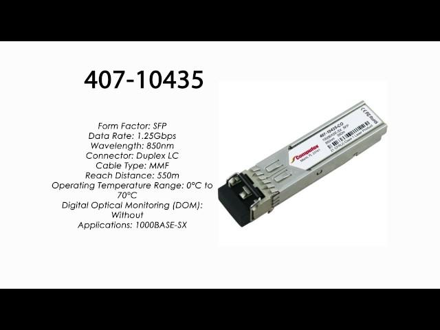 Dell Compatible 407-10435 1000BASE-SX SFP Transceiver 1G SX MMF 850nm 407-10435-HPC