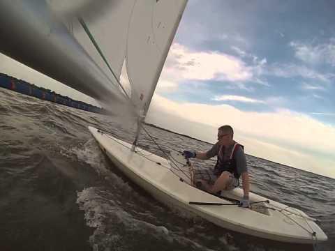 Windward and Leeward Mark Rounding- NNYC Laser Racing 8-6-2015