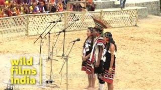 Zeliang Naga tribe perform a folk song - Nagaland