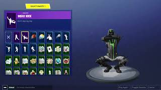 Fortnite-Archetype Skin shown with all my emotes