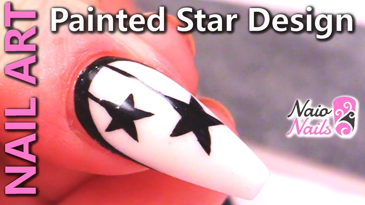 Nail Art Ideas - Using Acrylic Paints to Create Stars - YouTube