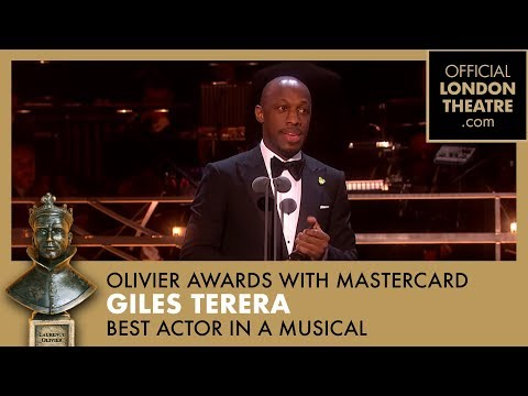 BEST ACTOR IN A MUSICAL - Giles Terera for Hamilton - Olivier Awards 2018