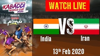 Kabaddi World Cup 2020 Live - India vs Iran - 13 Feb - Match 12 | BSports