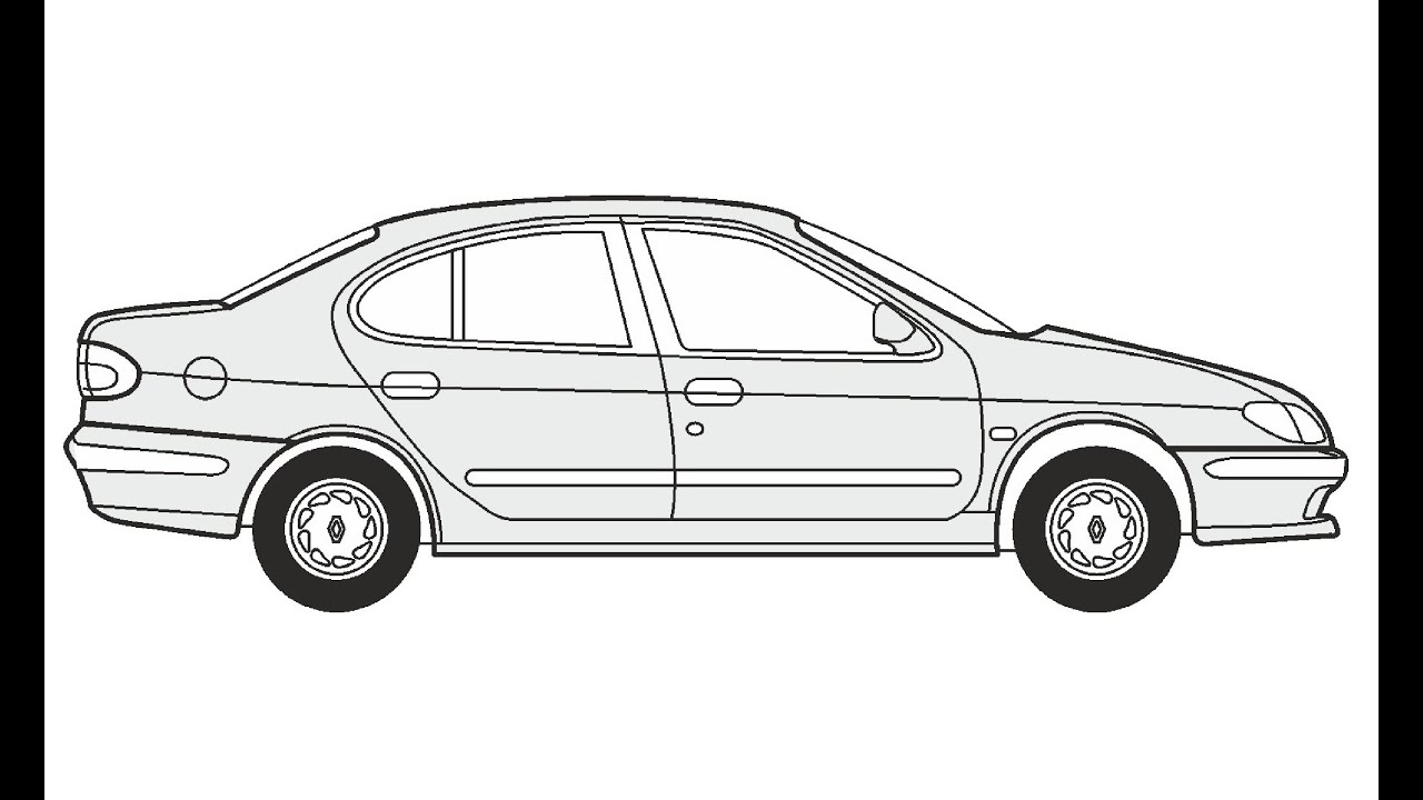 How to Draw a Renault Megane Classic / Как нарисовать