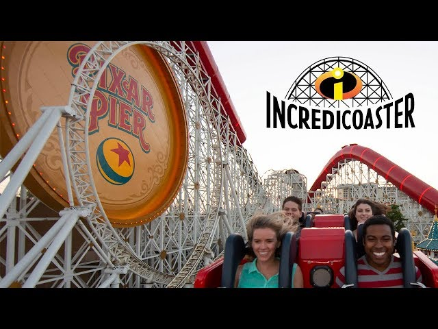 Pixar Pier Incredicoaster Full Ride POV [HD]
