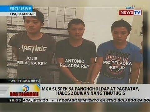 BT: Mga suspek sa panghoholdap at pagpatay, halos 2 buwan nang tinutugis