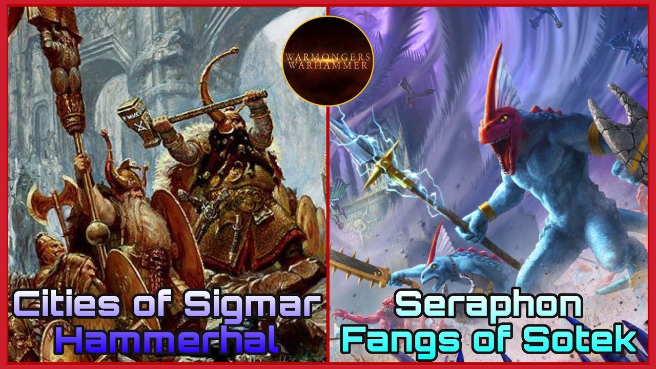 ⚔️Seraphon, Colmillos de Sotek vs Cities, Hammerhal⚔️ Warhammer Age of Sigmar