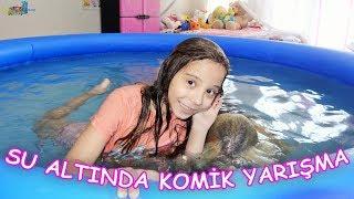 YÜzme Havuzunda Su Altinda Komİk YariŞma  Kim Söylenenleri Doğru Anlayacak?  Eğl