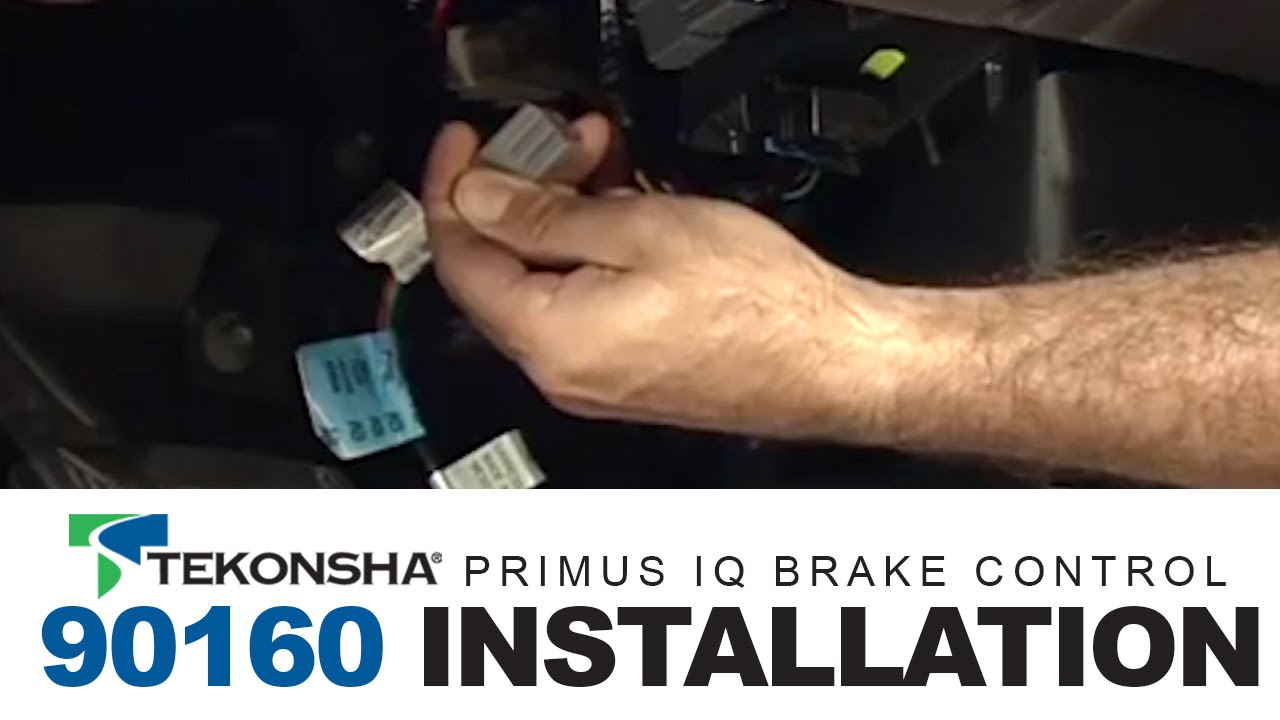 medium resolution of installing the tekonsha primus iq brake control 90160