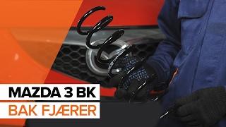 Hvordan bytte bak fjærer på MAZDA 3 BK BRUKSANVISNING | AUTODOC