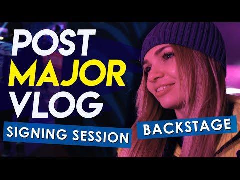 Post-major VLOG: signing session, backstage.