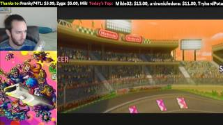 Livestream -- WarioWare: Smooth Moves. Mario Kart Wii, 15 Seconds Speedruns, MindCrack Server