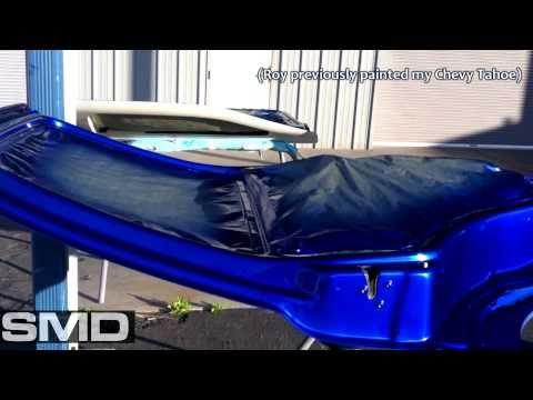 Candy Cobalt Blue - Chickens 02 Hoopty Escalade - Door Jambs, hood, hatch