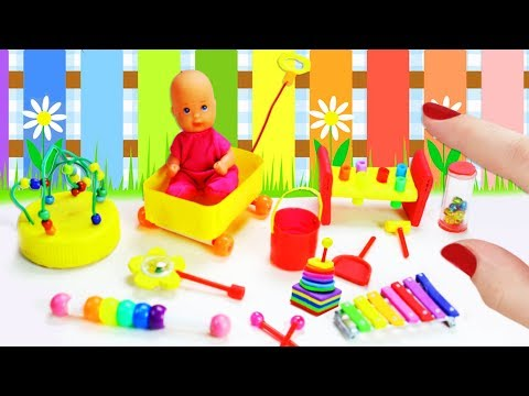 How to Make Miniature Baby Toys - 10 Easy DIY Miniature Doll Crafts - simplekidscrafts