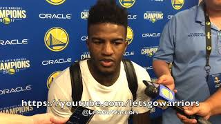 JORDAN BELL, postgame Golden State Warriors vs Houston Rockets: blames himself for bad defense