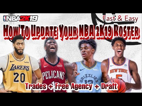 How To Get Updated NBA 2K20 Rosters On NBA 2K19 WITH FREE AGENCY & TRADES & ROOKIES! (PS4/XBOX ONE)