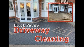 Block Paving Driveway Cleaning - Leicester - Nottingham - Derby