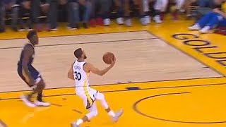 Stephen Curry Fools The Entire Warriors Crowd and Pelicans Team With Spin Pass To Kevin Durant!