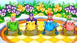 Mario Party: Island Tour Minigames - Mario vs Luigi vs Peach vs Waluigi