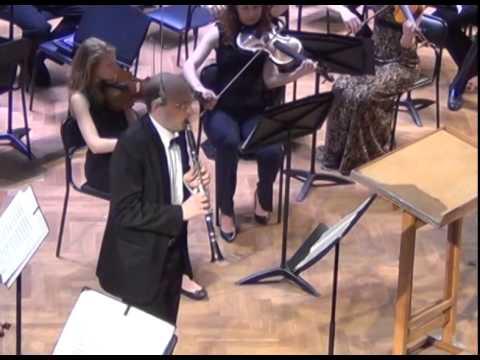К.М.Вебер. Концерт для кларнета №2. Евгений Петров (кларнет). Дирижер - Рафаэль Багдасарян.