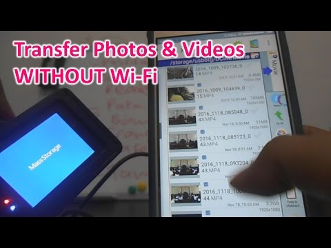 Cara / How to Transfer Videos from Action Camera to Phone WITHOUT Wi-Fi (Eng-Subtitle)