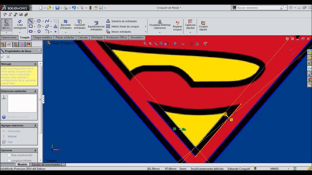 Como Hacer El Logo De Superman En SolidWorks (imagen De