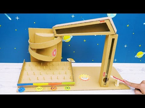 DIY - How to Make Marble Game Toys from Cardboard - Easy Cardboard Crafts