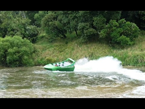 Jet boat on the Whanganui River with Forgotten World Adventures - 4K