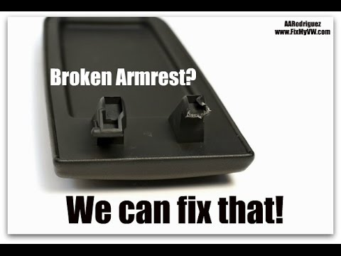 Vw Armrest Lid Repair Diy Video Fix Replacement Hinges