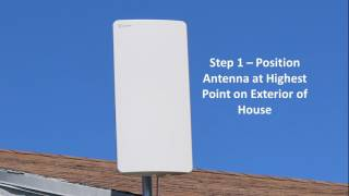 AT 400B Antop Outdoor and Indoor HDTV Antenna Flat Panel