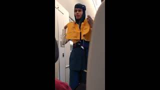 Saudi Airlines Safety briefing