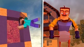 Minecraft - How to Make a Portal to HELLO NEIGHBOR! (Hello Neighbor in Minecraft)